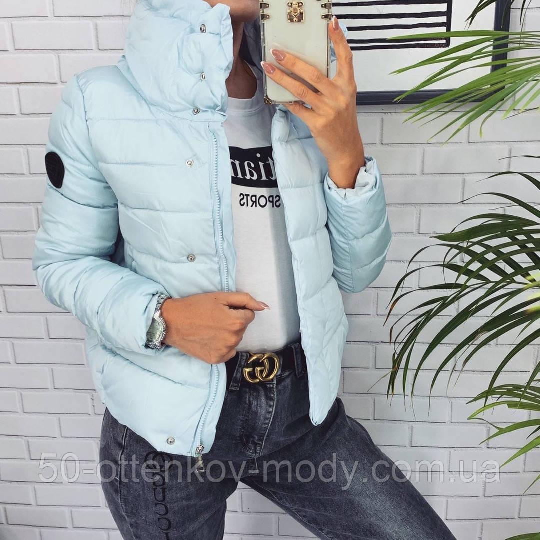 Жіноча демісезонна куртка з великим коміром, чорний, жовтий, блакитний, рожевий, малина