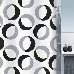 Spirella Шторка для ванной текстильная Spirella RINGS черный (10.15184)