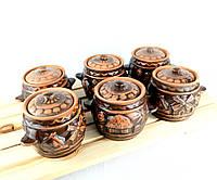 Горшочки для запекания 6 шт из красной керамики Мельница
