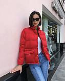 Женская демисезонная куртка черная красная бежевая белая, фото 3