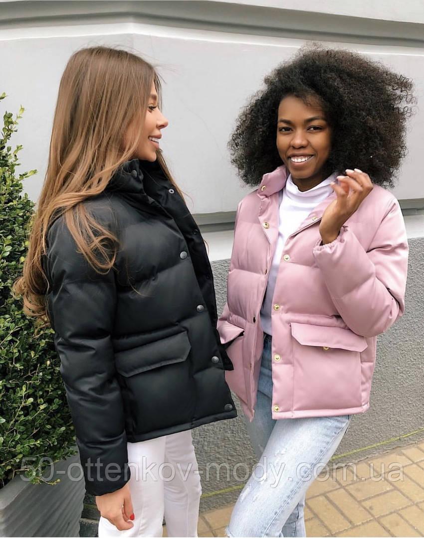Женская демисезонная куртка черная красная бежевая белая