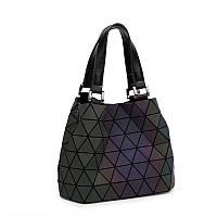 Женская сумка хамелеон из треугольников Бао Бао Bao Bao Issey Miyake маленькая 22х17х12см