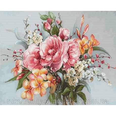 Набір для вишивки хрестом Luca-S BA2364 Букет квітів