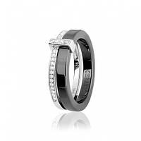 Серебряное кольцо GS с керамикой КК2ФК/1001