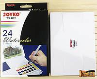 Набор Акварели JOYKO 24 цвета с кисточкой