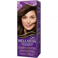 Крем-краска для волос Wellaton стойкая 4/0 Темный шоколад (4056800023035)