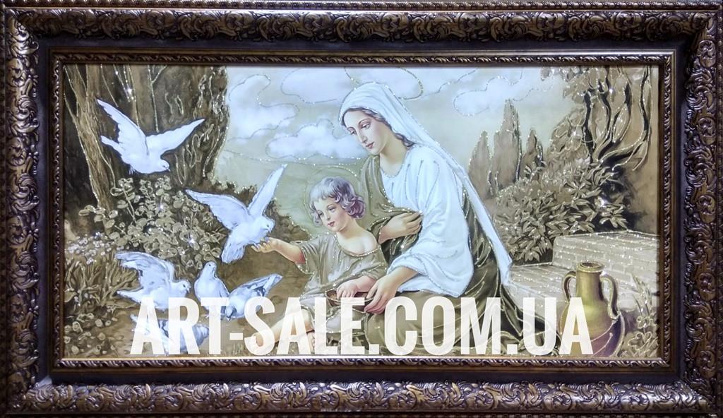 Мария с голубями
