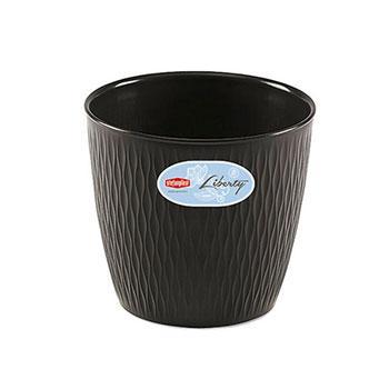 Stefanplast Stefanplast Вазон круглый LIBERTY черный 20 см (87202)