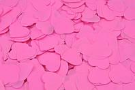 Конфетти сердечки розовые, 50 грамм