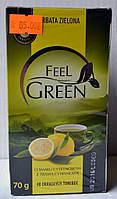 Чай зеленый с лимонным ароматом Feel Green 40 пакетиков