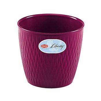 Stefanplast Вазон круглый Stefanplast LIBERTY фиолетовый 25 см (87254)