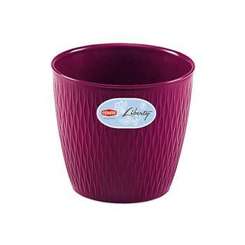 Stefanplast Вазон круглый Stefanplast LIBERTY фиолетовый 20 см (87204)
