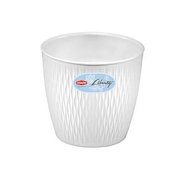 Stefanplast Stefanplast Вазон круглый LIBERTY белый 20 см (87200)