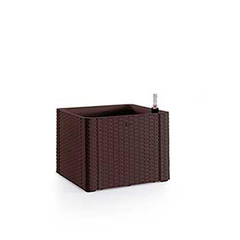 Stefanplast Вазон квадратный Stefanplast DELUXE с автополивом и индикатором уровня воды коричневый (75701)