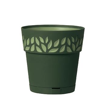 Stefanplast Вазон круглый Stefanplast OPERA CLOE с автополивом зеленый 30 см (94152)