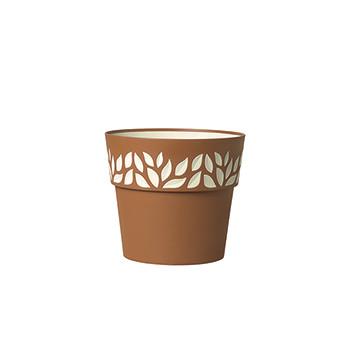 Stefanplast Вазон круглый Stefanplast OPERA CLOE коричневый 20 см (94251)