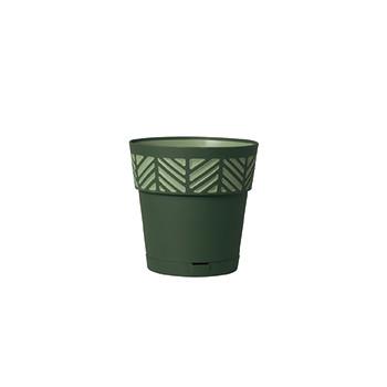 Stefanplast Вазон круглый Stefanplast OPERA ORFEO с автополивом зеленый 15 см (94452)