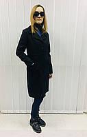 Пальто женское демисезонное в стиле Moschino черное