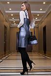 Платье-сарафан гламурное из эко-кожи (3 цвета, р.S-XL), фото 10