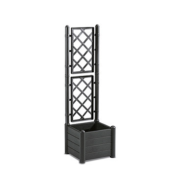 Stefanplast Вазон квадратный с декором Stefanplast ITALIA черный (80106)