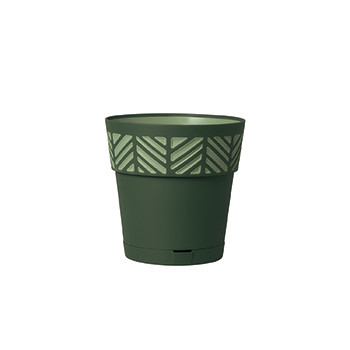 Stefanplast Вазон круглый Stefanplast OPERA ORFEO с автополивом зеленый 20 см (94502)