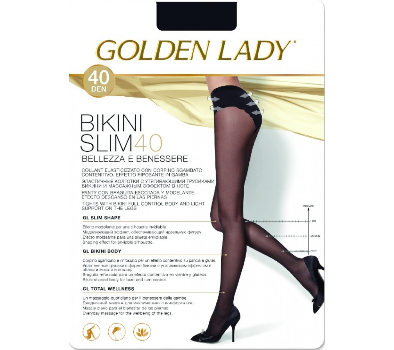 Колготки женские Golden Lady Bikini Slim 40 den