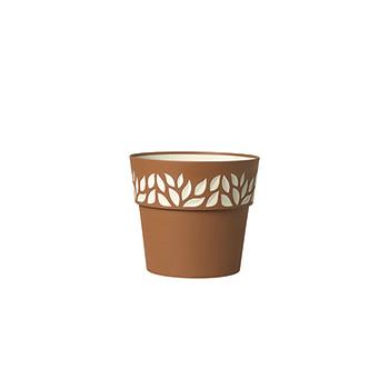 Stefanplast Вазон круглый Stefanplast OPERA CLOE коричневый 15 см (94201)