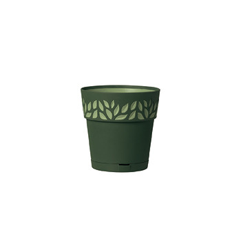 Stefanplast Вазон круглый Stefanplast OPERA CLOE с автополивом зеленый 15 см (94002)