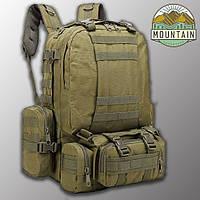 """Тактический рюкзак с подсумками """"Mountain - 50 pack"""" (олива) на 50 литров, армейский, военный, edc"""