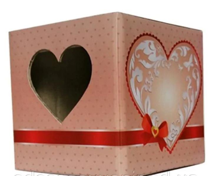 Упаковка для чашок (сердечко)