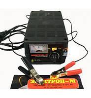 Зарядное устройство для автомобильных аккумуляторов Электрон-М 6А (регулировка) 6-12В