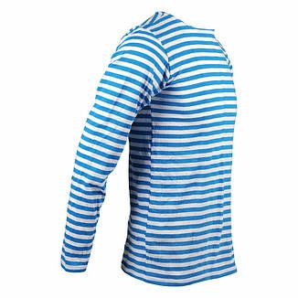 Тельняшка с длинным рукавом, голубая полоса, фото 2