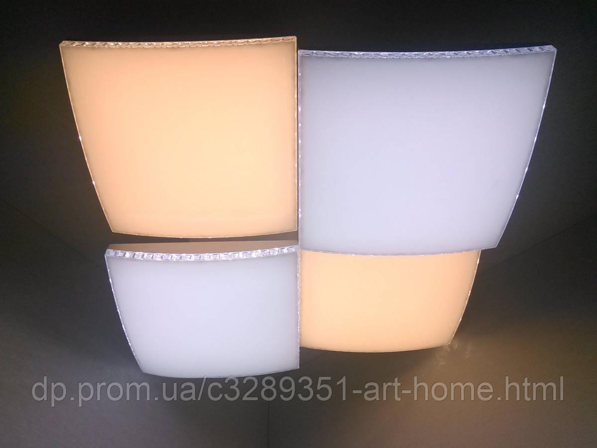 Светильник потолочный Led с пультом (13х54х54 см.) Белый YR-99101/4