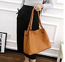 Женские сумки тоут Givenchy большая шоппер с органайзером цвет черный розовый коричневый экокожа, фото 3