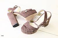 Женские босоножки на каблуке 37