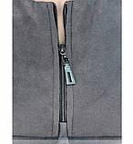 Платье женское батал с декоративными швами серое, фото 4