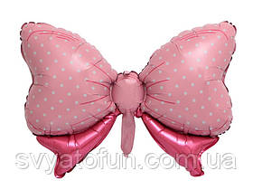 """Фольгированный шар-фигура """"Бант розовый"""" Китай"""