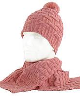 Вязаный женский комплект шарф и шапка TRAUM 2520-23