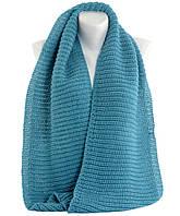 Женский бирюзовый шарф-снуд TRAUM (2482-18)