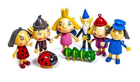 """Набор игровых фигурок BEN & HOLLY """"Маленькое королевство Бена и Холли"""" 8 персонажей в блистере 7.5см"""