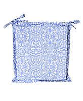 Подушка на стул с ушками Фреска-Лаванда, 40*40 см