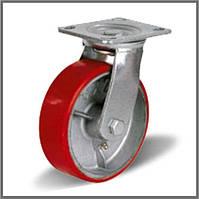 Колесо промышленное Ø 300 мм большегрузное на поворотном кронштейне