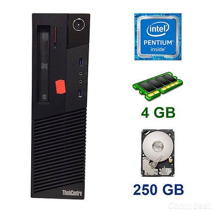 Lenovo ThinkCentre M83 DT / Intel Pentium G3420 (2 ядра по 3.2 GHz) / 4 GB DDR3 / 250 GB HDD / DVD ROM, фото 2
