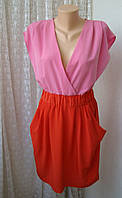 Платье модное легкое нарядное яркое мини бренд H&M р.44
