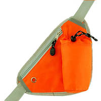 Оранжевая сумка-борсетка с термоемкостью для бутылки TRAUM 7019-11