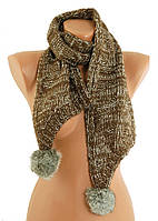 Шарф женский коричневый из меха TRAUM 2483-42