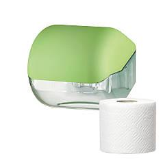 Держатель диспенсер стандартных обычных рулонов туалетной бумаги COLORED пластиковый настенный