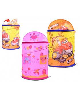 Корзина для игрушек GFL-000 2 вида, микс товар. (45*80) в сумке со змейкой 50см
