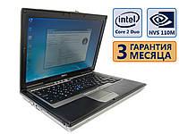 Ноутбук Dell Latitude D620 COM-port 14.1 (1440x900) / Core 2 Duo T7200 (2x 2.0GHz)/ NVS 110M / RAM 4GB / HDD 250GB / АКБ 45Wh / Сост. 8.5/10  БУ