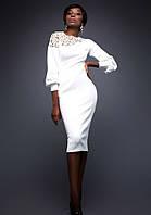 Платье Молочное Сногсшибательное S-XL